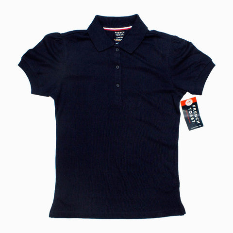 French Toast Premium Poly Cotton Jersey Girls Navy Blue Polo