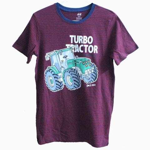 H&M turbo Tractor Blue and maroon Stripes