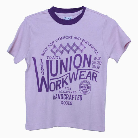 Trade union unisex light purple tshirt