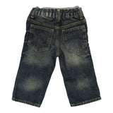 Baby GAP Inner Grey Ribbed Sand washed Boys Blue Denim Jeans