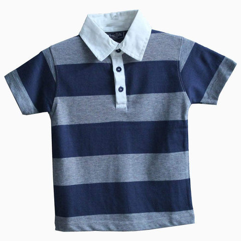 Massimo Dutti Grey and blue boys polo