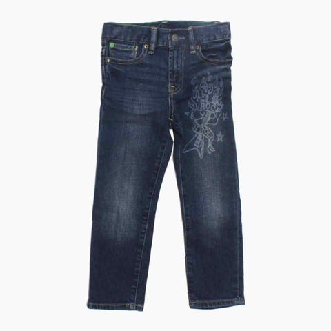 BABY GAP Laser Printed Rock and Roll Unisex Denim Jeans