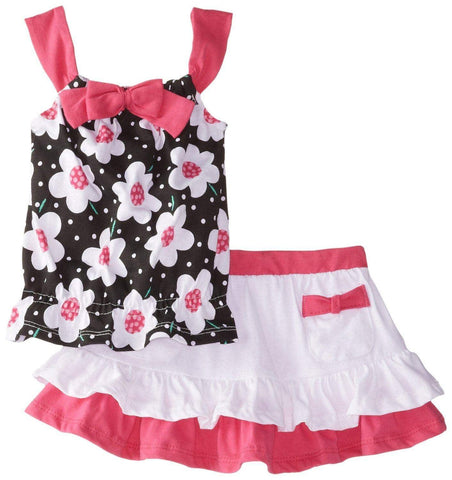 Young heart Black & Pink flower frock