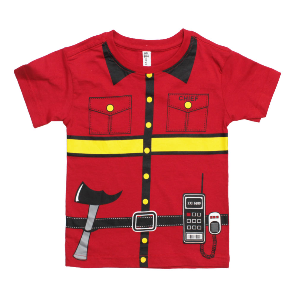 FIRE Chief Red Cotton Boys 2 Piece Set