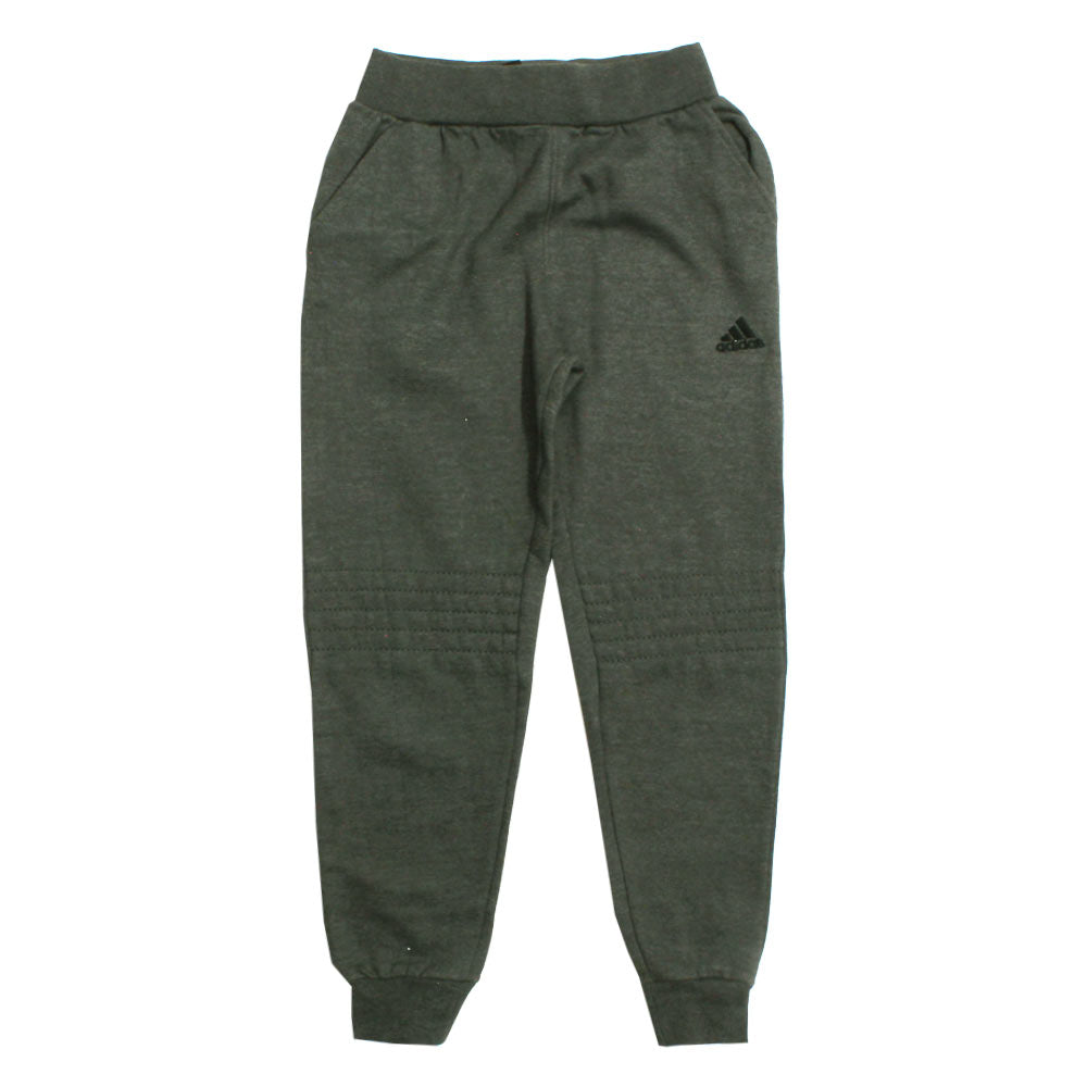 ADIDAS Knee Stitched Grey Fleece Trouser