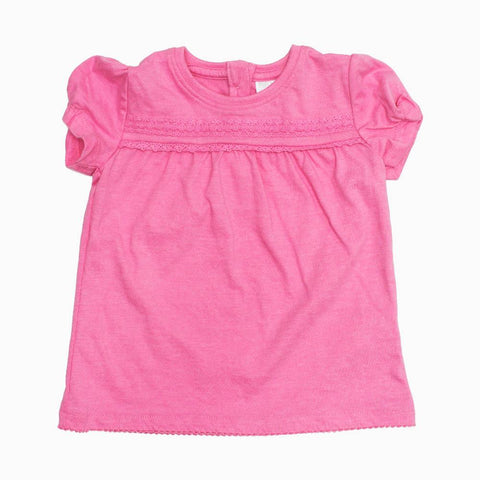 FnF baby Pink Girls lace fashion Premium Cotton Tshirt