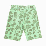 ZIppy Kids Light Green Garment Dyed All over Flower Twill Cotton Unisex Short