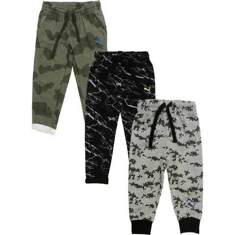 PUMA Grey Absract And Black Cotton mix Trouser 3 Piece Bundle