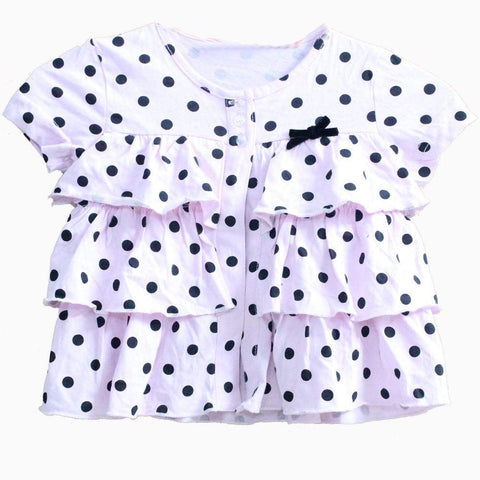 Mango Black polka Pink Dress