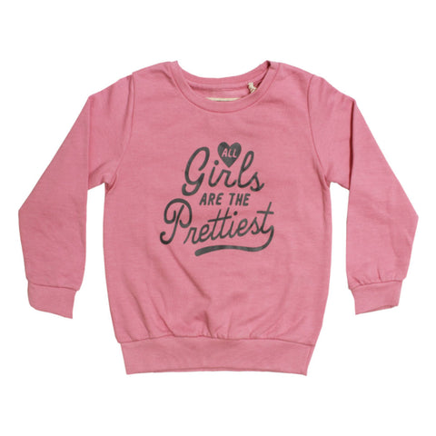 UNIT Girl Prettiest Pink Girls Cotton Sweat Shirt