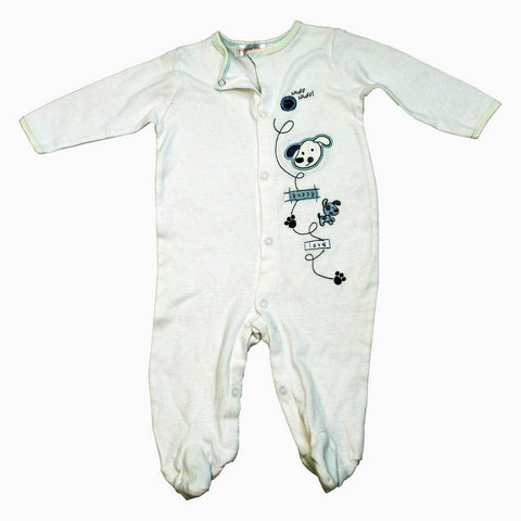 Minnie Minors Puppy Love off white Sleep Suit