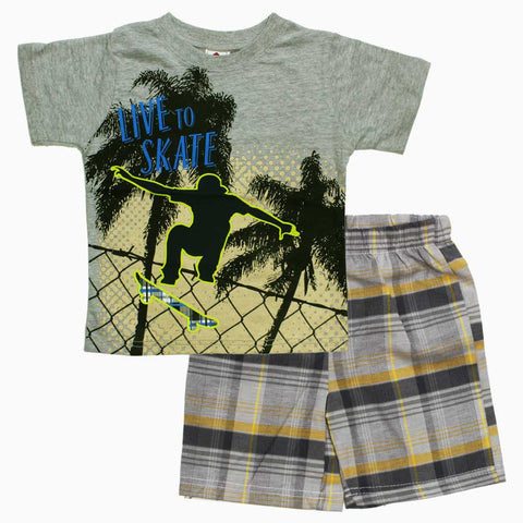 Live to Skate Boys Grey 2 Piece Set
