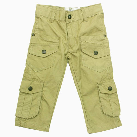HnM 6 Cargo Pockets Sand Brown Three Quarter Bermuda