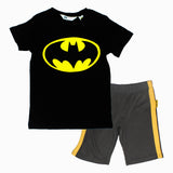 Batman Chest Print Black Premium Cotton 2 Piece Boys Set