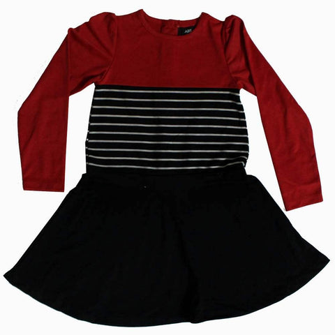 ABS Girls Red and Black Girls Dress