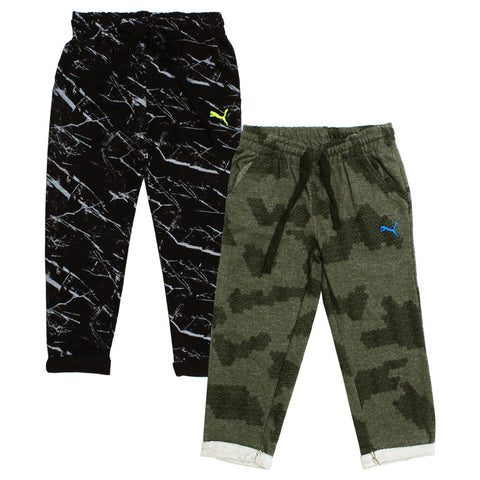 PUMA Abstract black and Grey 2 piece Trouser set