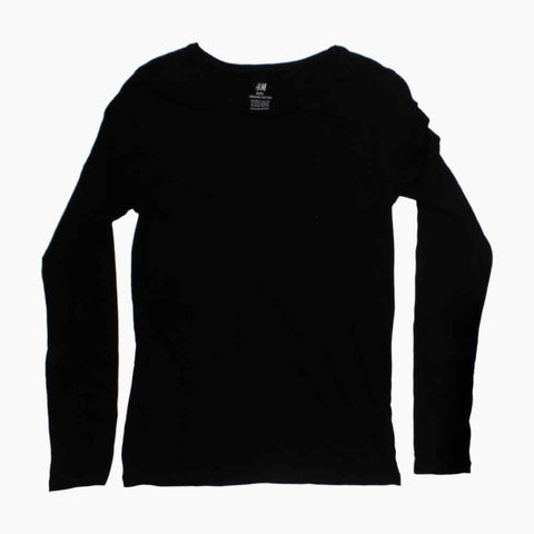HNM Organic Cotton Boys Black Full Sleeves Premium Tshirt