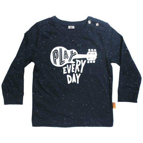 Play Every Day Blue Cotton Tshirt