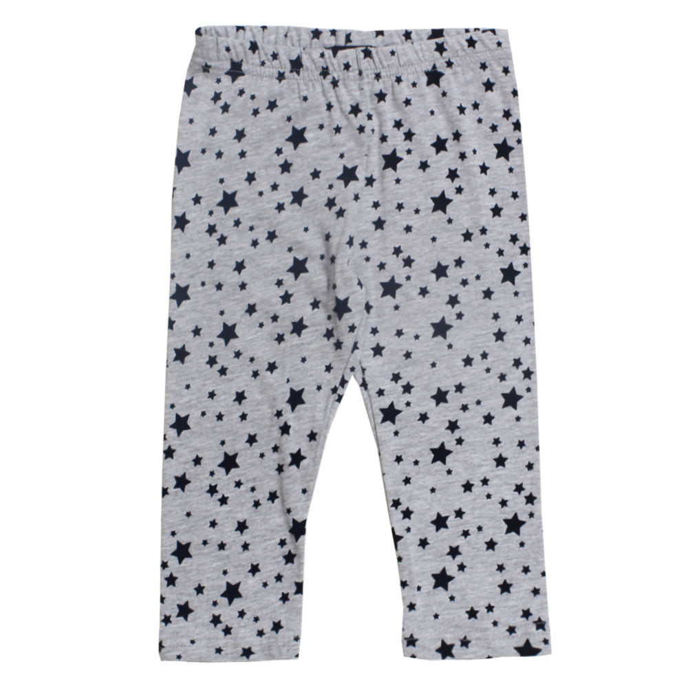 BLUE SEVEN All Over Star  Grey Girls Cotton Capri
