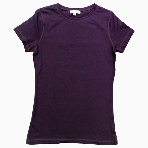 Charles Vogele Purple basic Super Soft Girls Tshirt