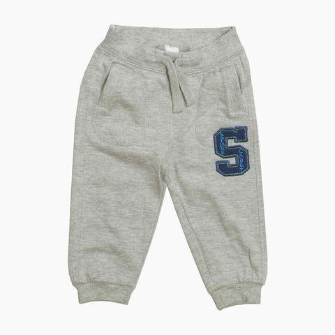 BABY CLUB Space Cadet Heather Grey Fleece Boys Trouser