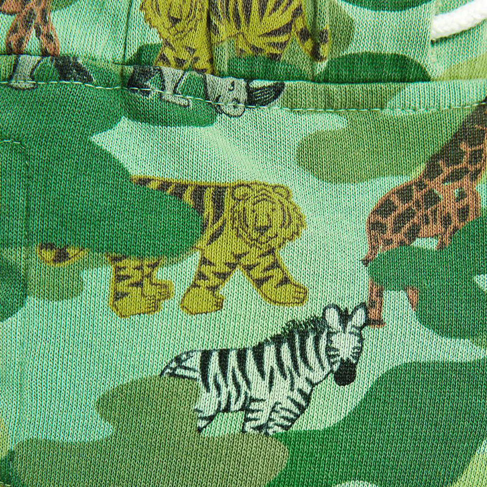 ZARA BABY BOY Jungle Print Green Terry Cotton Short