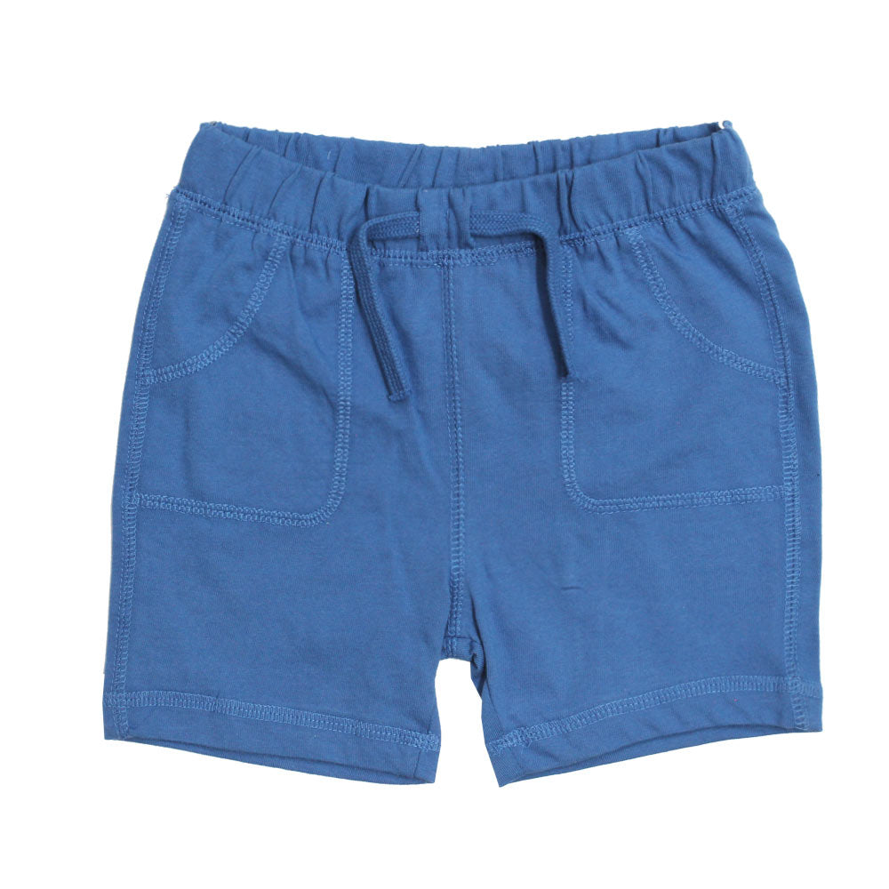 BABY CLUB Green and Dull Blue Premium Cotton Shorts Set