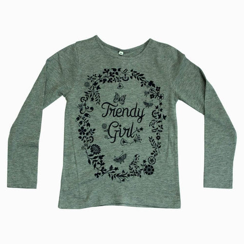 Trendy Girl Grey Tshirt