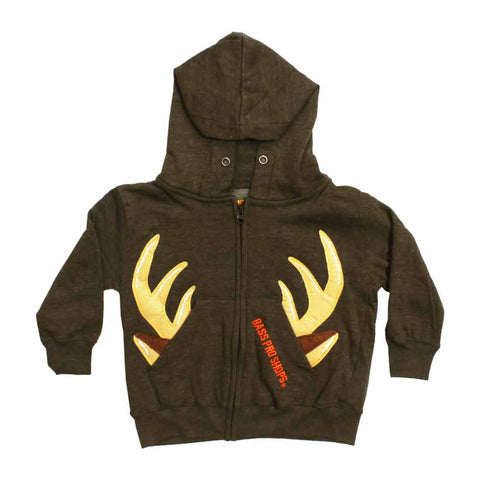 Bass Pro Deer Applique Brown Boys Hoodie