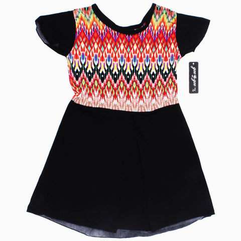 Gee Gee Multi Colour Top Black Poly Cotton Premium Dress