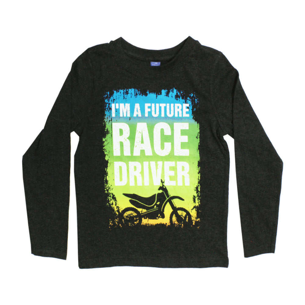 DOPO DOPO Race Driver Grey Boys Cotton Tshirt