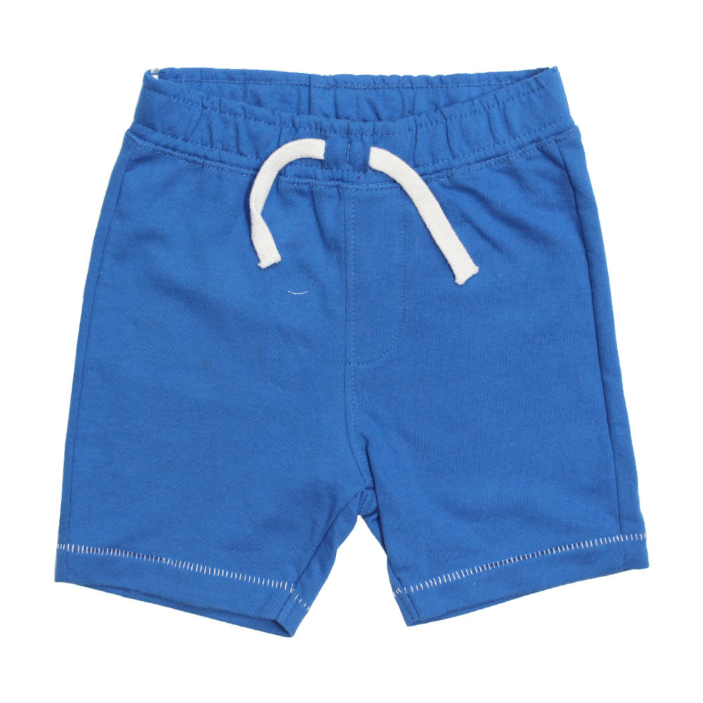 BABY CLUB White Draw String Blue Premium Cotton Shorts