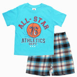 All Star Athletics Light Blue with Woven Shorts Boys Set