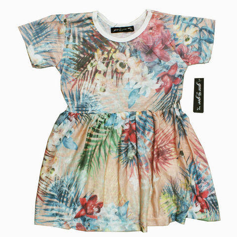 Gee Gee All over Flower Feel Less Print Poly Cotton Dress