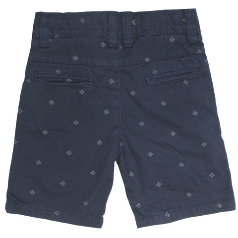 MITCH Abstract Print Navy Blue Boys Cotton Short