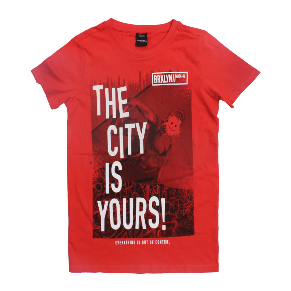 CHAPTER Yong The City Red Boys Premium Cotton Tshirt