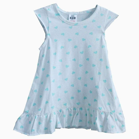 Zara baby teal hearts pattern white dress
