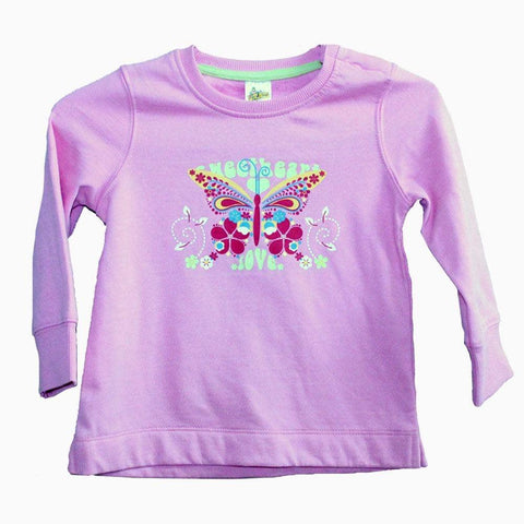 Sweet heart love pink girls sweat shirt