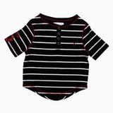 Boys Black and White Stripes Tshirt
