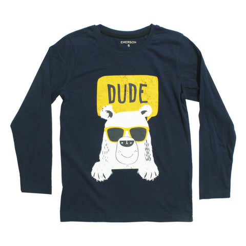 EMERSON Dude Bear Premium Cotton Tshirt