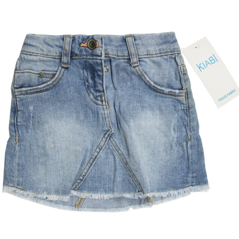 KIABI Light Blue Girls Denim Skirt