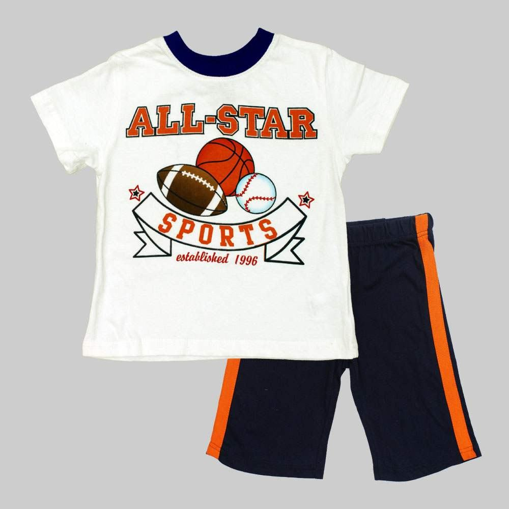 All Stars Sports Boys White 2 Piece Set