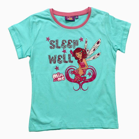 Mia and Me Sleep Well Sky Blue Girls Tshirt
