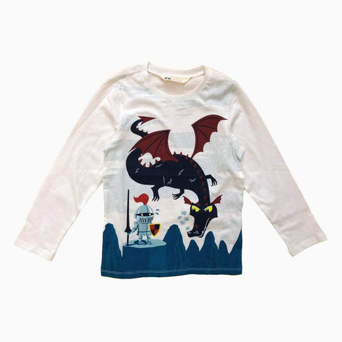 HnM boys Dragon Warior white t-shirt