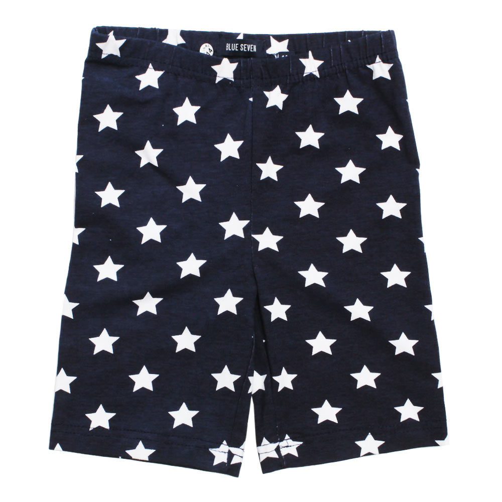 BLUE SEVEN All over Stars Navy Blue Girls Shorts