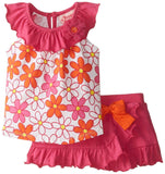 Young heart Pink flower Frock