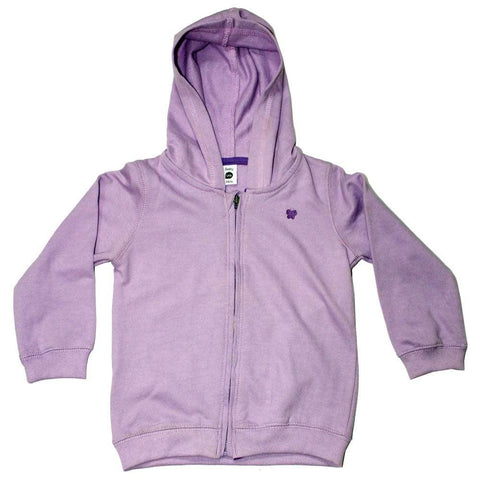 URB Butterfly Glitter print Light Purple French Terry Hoodie