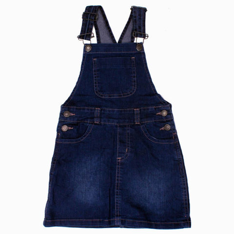 CHIC Girls Front Pocket Denim Skirt Dungaree