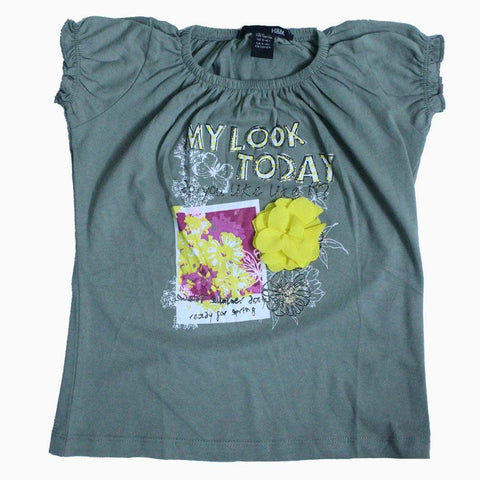 H&M my look today light green color T-shirt