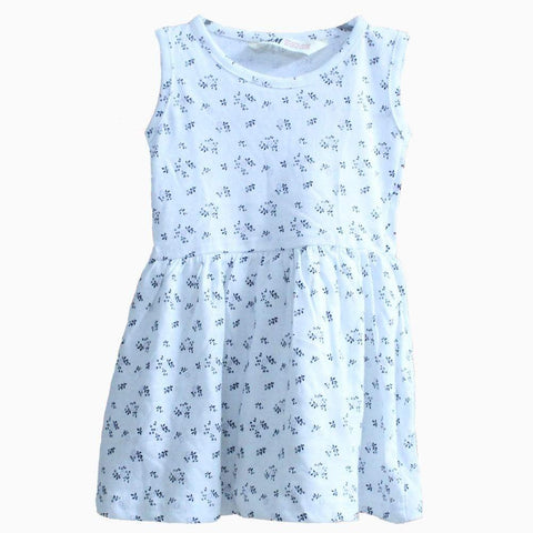 HNM leaf pattern white Dress sleeveless
